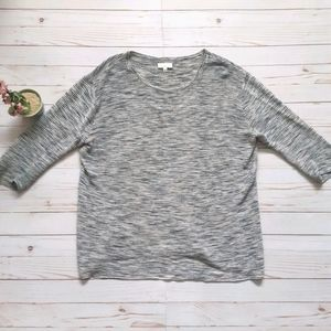 WILFRED Blanchard Ribbed Space Dye Sweater